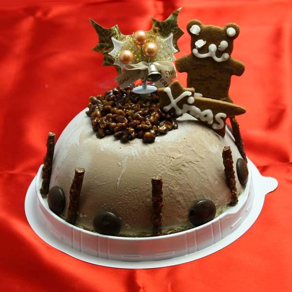 チョコレートアイスケーキ 5号サイズ【3,800円/税込/送料950円】本格チョコレート味 通常サイズ 2017年クリスマス アイスクリーム ジェラート