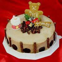チョコレートアイスケーキ 6号サイズ 18cm 6人用チョコレートデコレーション クリスマスケーキ2018 クリスマスチョコレートデコレーション クリスマスチョコレートアイスケーキ