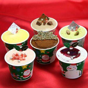 クリスマスアイスケーキ6個入り【2.900円/税込/送料950円】6種類のアイスケーキの味 人気の商品 いろんな味を楽しみたい人向け 2017年クリスマスアイスクリーム