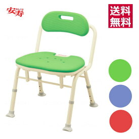 アロン化成 安寿 「折りたたみシャワーベンチIN-S」 背付き 標準座面 送料無料 入浴介助 在宅介護 風呂椅子 チェア 腰掛け