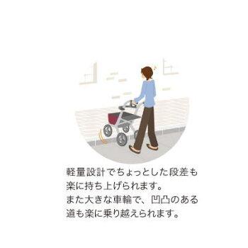 室外用歩行車安寿リトルターン抑速付(532-323)ワインレッドアロン化成折りたたみ可能屋外用速度制御【送料無料】