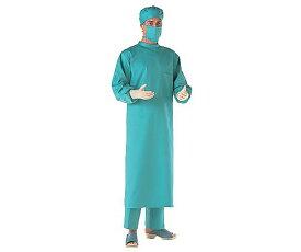 住商モンブラン 手術衣(バック・シングル) グリーン L 0-7691-02