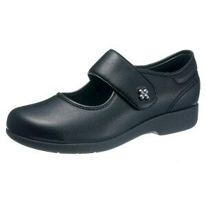 アサヒシューズ 『快歩主義』 L129 (女性用) ブラック KS23441【高齢者用靴・ケアシューズ・介護室外用・軽量・介護用シューズ・リハビリシューズ】【L129】【母の日・敬老の日】【