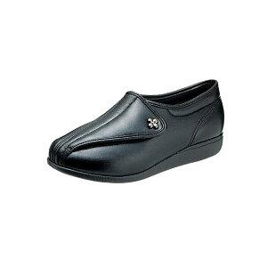 アサヒシューズ 『快歩主義』 L011 ブラックスムース(女性用・婦人用) 両足販売 【L011】【高齢者用靴・ケアシューズ・軽量・介護用シューズ・リハビリシューズ・クリスマス・お祝