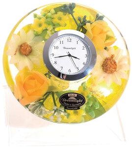 ドリームクロック スプリングフラワー CDD7241CL【花柄クロック・置き時計 かわいい・置き型時計・花時計 置き型・母の日プレゼント・内祝い ギフト 時計・フラワー インテリア】