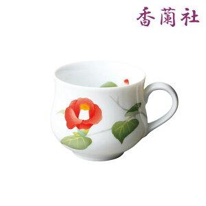 【今だけ10%OFFクーポン】日々と椿・マグカップ 1189-HMB 香蘭社【有田焼・おしゃれ・かわいい・シンプル・ギフト・のし・ラッピング】