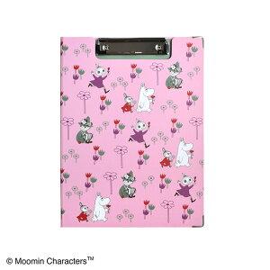 ムーミン クリップボード Flowergardenピンク ST-ZM0152 セントレディス【MOOMIN・キャラクター雑貨・事務用品・文具・バインダー・A4サイズ・内ポケットあり・かわいい・おしゃれ】