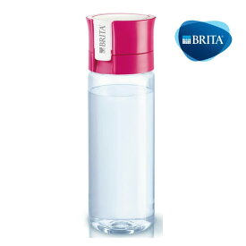 ブリタ フィル&ゴー ピンク 0.6L カートリッジ1個付き【BRITA 携帯用・ブリタ 水筒・ブリタ 携帯型浄水ボトル・ブリタ 浄水ポット 持ち運び・BRITA fill&go・BRITA フィル&ゴー】