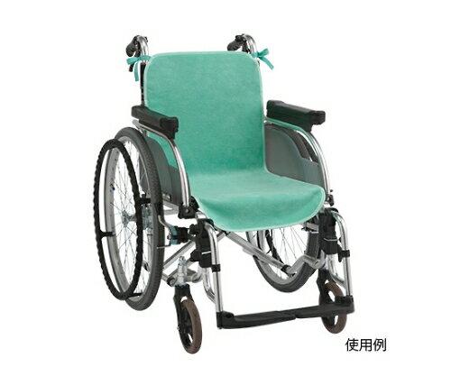 ケアメディックス 車いすシートカバー グリーン 2枚入 61-7364-46【車椅子用シートカバー・車椅子カバー・車いすカバー・車椅子オプション】