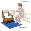 (シンエイテクノ)ゼオシーター(ポータブルトイレ用防臭すべり止めマット)(Mサイズ:60cm×80cm)(ブルー/ブラ…