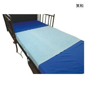 【ポイント10倍】(笑和)RAKUワンタッチ防水シーツ(SR-600BL)(160cm×90cm)(ブルー)(耐熱温度100℃)【送料無料】