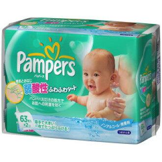 P & G 帮宝适蓬松柔软笔芯表 63 x 2 包 (包括臀部组织) 或表请擦拭湿巾笔芯