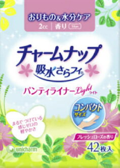 Uni-charm charmap water addition (PVC figure) panty liner light fresh rose scent 42