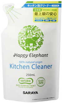 Saraya happy elephant kitchen foam cleaner for refill 250 ml (contents) (4973512260513)