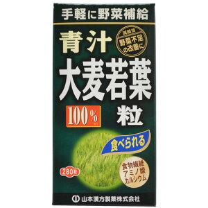 【あわせ買い2999円以上で送料無料】【山本漢方製薬】山本漢方 大麦若葉 青汁粒100% 280粒