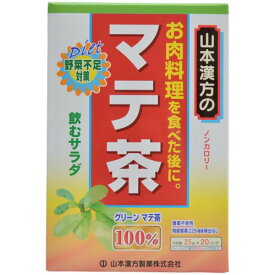 【あわせ買い2999円以上で送料無料】【山本漢方製薬】山本漢方の100%マテ茶 2.5g×20バッグ