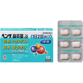 【第(2)類医薬品】ベンザ鼻炎薬α(1日2回タイプ) 12錠【R】