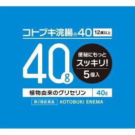 【第2類医薬品】コトブキ 浣腸 40 40g×5個入り