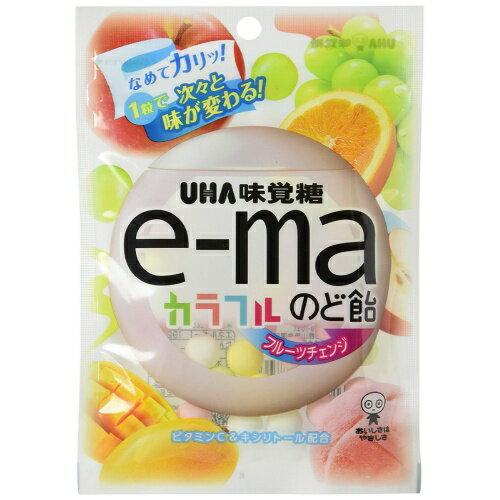 【送料無料】味覚糖 イーマ e-ma のど飴 カラフルフルーツチェンジ 50g×72個セット