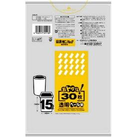 【あわせ買い2999円以上で送料無料】日本サニパック U18T おトクな 15L 透明 室内ペール用 ゴミ袋 30枚