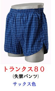 【ニシキ】 トランクス80 色:サックス S/M/L/LL  (失禁パンツ/尿漏れパンツ) 161-U0361