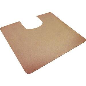 ゼオシーター(ポータブルトイレ用消臭すべり止めマット) 洋式トイレマット・55cm×60cm ブラウン