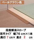 【TOTO】 段差解消スロープ 定尺タイプ EWA112SH20 幅76cm/#PF ペールブラウン (介護/福祉/住宅改修/スロープ/車椅子/段差/高低差) ...