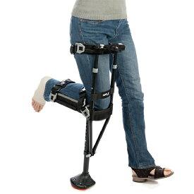 プロト・ワン アイウォーク・フリー iWALKFree 2.0 (ニークラッチ2.0)ブラック 膝を支えるハンズフリー松葉杖 1本入 適応身長:約150cmから メーカー直送品