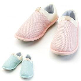 SUTTO fresh-スットフレッシュ 2248 女性用 色:ピーチ/ミント サイズ:S/M/L/LL 徳武産業 靴 シューズ 室内履き