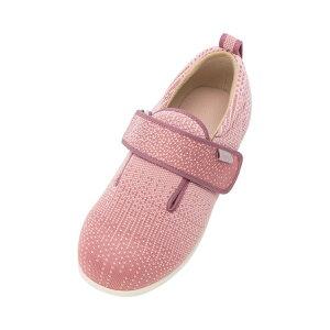 徳武産業 ダブルマジック3 ニット 7049 9E 片足(左足) サイズ:L 色:ピンク 室内履き シューズ 介護 靴