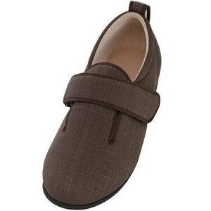 徳武産業 ダブルマジック3 7037 9E 片足(左足) サイズ:S 色:茶 室内履き シューズ 介護 靴