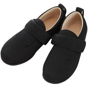 徳武産業 ダブルマジック3 7035 5E サイズ:6L 色:黒 室内履き シューズ 介護 靴