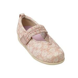 徳武産業 マジックゴムバンド優 1042   片足(右足) サイズ:LL 色:ピンク 室内履き シューズ 介護 靴