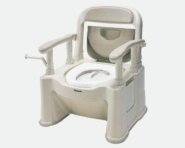 <あす楽対応>【送料無料】ポータブルトイレ 座楽 背もたれ型SP 標準 メーカー:パナソニック Panasonic VALSPTSPBE