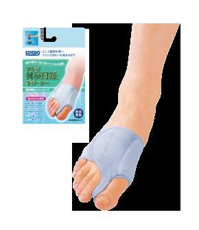 ソルボ外反母趾サポーター固定薄型メッシュタイプ(片足)