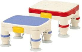 プラスチック製で軽量!吸着しやすく、滑りにくい! 安寿 高さ調節付浴槽台R 「かるぴったん」ミニ(滑り止めシートタイプ) レッド / ブルー