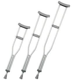 ホスピタル松葉杖(アルミ製)【松吉医科器械】2本組Mサイズ