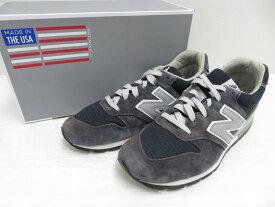 【中古】new balance ニューバランス M996NAV サイズ:US9 ネイビー 米国製 【メンズ】【鳥取店】