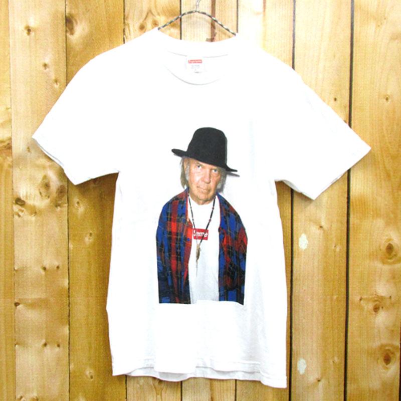 【中古】【メンズ古着】Supreme シュプリーム Neil Young Tee ニールヤング 半袖 Tシャツ サイズ:S/カラー:ホワイト/15ss/ストリート【山城店】