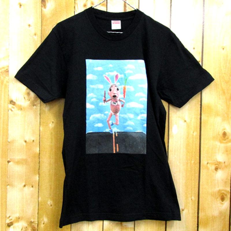 【中古】【メンズ古着】Supreme シュプリーム Mike Hill Runner Tee 半袖 Tシャツ サイズ:M/カラー:ブラック/17SS/ストリート【山城店】