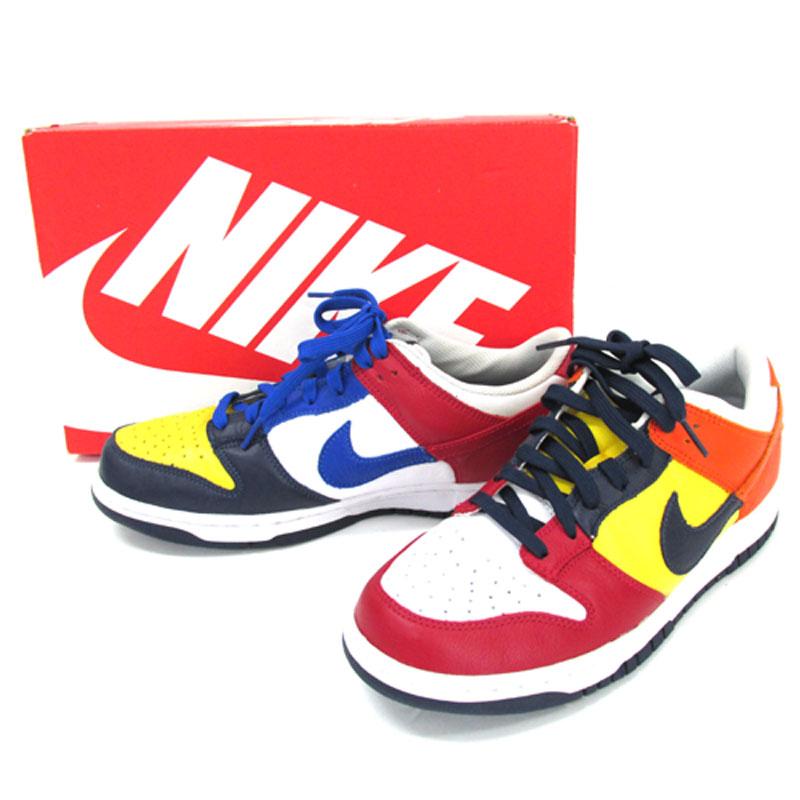 【中古】【メンズ古着】NIKE ナイキ DUNK LOW JP QS ダンクロー 品番:AA4414-400/サイズ:28cm/カラー:マルチカラー/ストリート/WHAT THE/スニーカー/靴 シューズ【山城店】