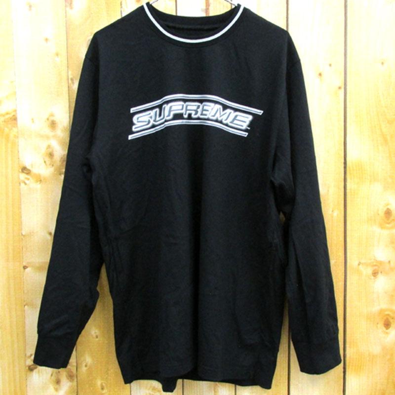 【中古】【メンズ 古着】Supreme シュプリーム Bevel L/S Top ベベル ロングスリーブ Tシャツ サイズ:XL/カラー:ブラック/スポーツT/カットソー/長袖/ストリート【山城店】
