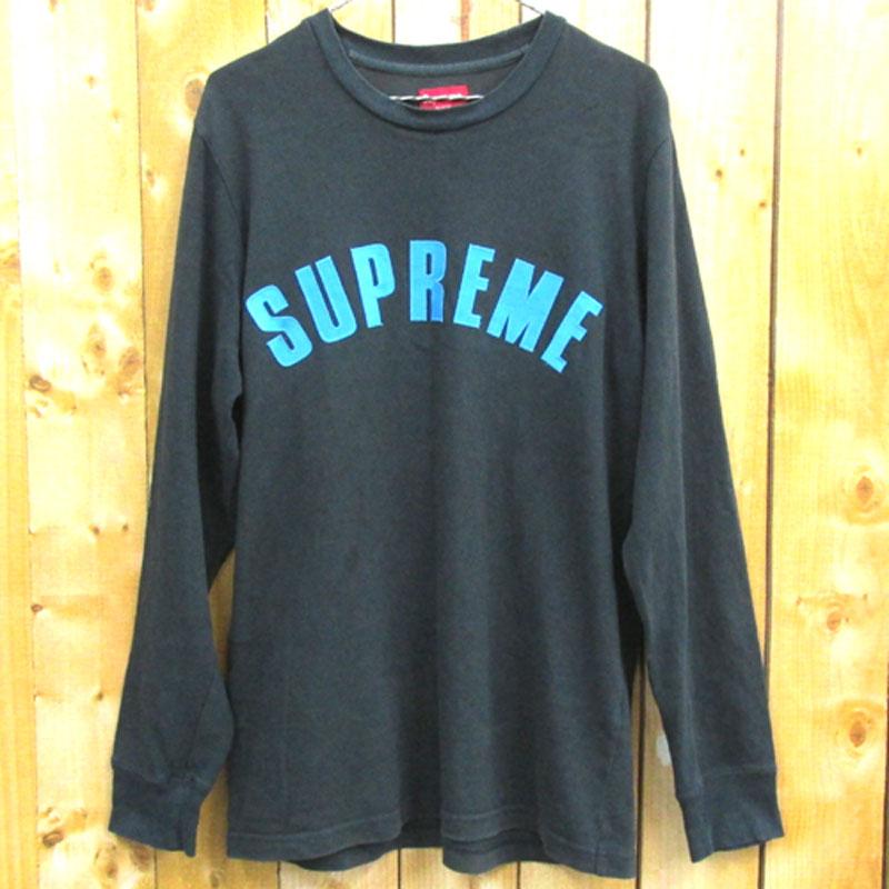 【中古】【メンズ 古着】Supreme シュプリーム Arc Logo L/S Top アーチロゴ ロングスリーブ Tシャツ サイズ:M/カラー:ブラック/16SS/ロゴ/カットソー/ストリート【山城店】