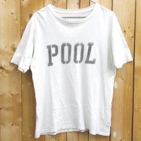 【中古】【メンズ 古着】the POOL aoyama ザ・プール青山 ロゴ プリント Tシャツ サイズ:S/カラー:ホワイト/半袖/ストリート【山城店】