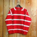 【size:S】Supreme Striped Raglan Crewneck シュプリーム ストライプ ラグラン クルーネック【15AW】【Red / レッド...