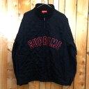 Supreme Arc Logo Quilted Half Zip Pullover/シュプリーム アーチロゴ キルテッド ハーフジップ プルオーバー/裏起毛/...