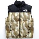 【中古】【メンズ 古着】Supreme The North Face Fur Pritnt Nuptse Vest シュプリーム ノースフェイス ファープリント...