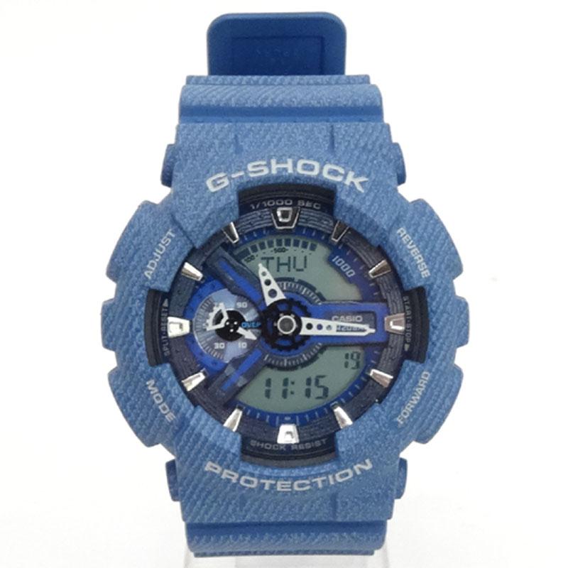 G-SHOCK ジーショック 時計/品番:GA-110DC/カラー:ブルー系/デニムカラー/限定/海外モデル/アナデジ《腕時計/ウォッチ》【服飾小物】【中古】【山城店】
