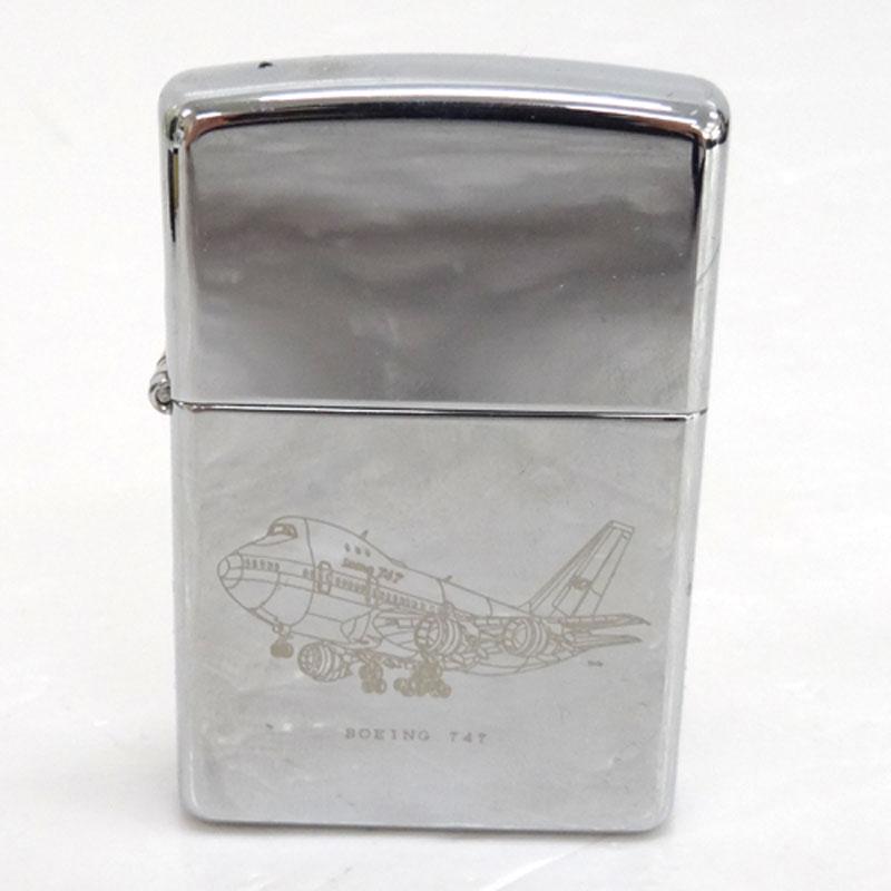 ZIPPO(ジッポ) BOEING 747 オイルライター/喫煙具/カラー:シルバー ボーイング747《ジッポー・ライター》【服飾小物】【中古】【山城店】