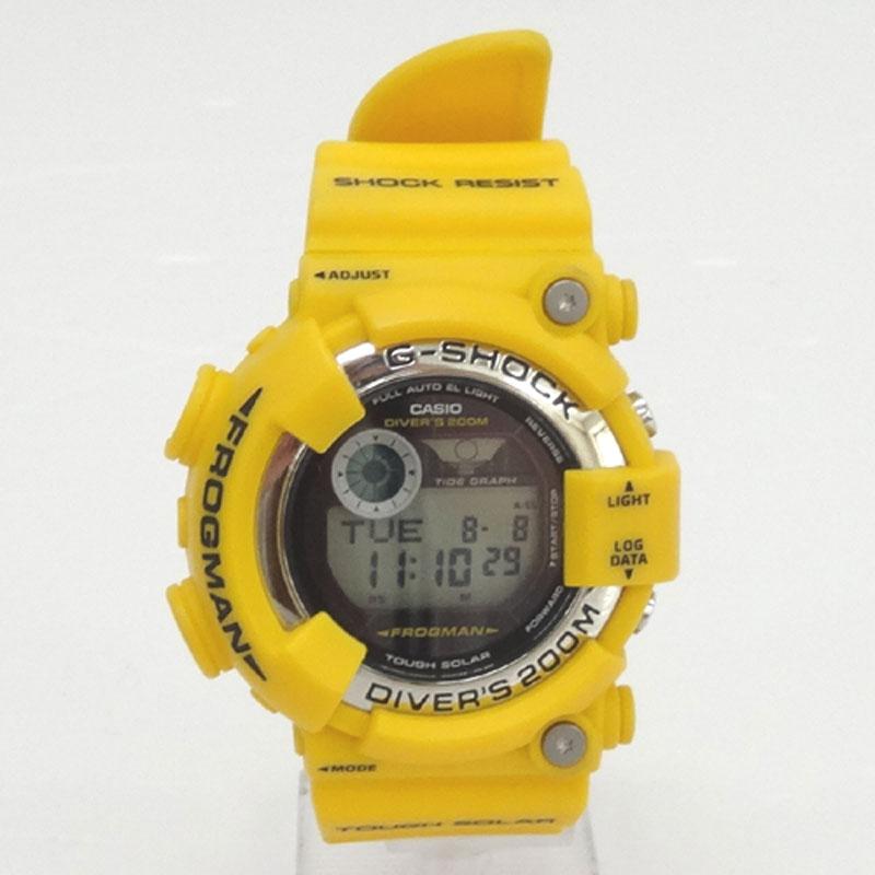 G-SHOCK ジーショック 時計/品番:GF-8250/カラー:イエロー/Gショック/FROGMAN/フロッグマン/黄蛙《腕時計/ウォッチ》【服飾小物】【中古】【山城店】